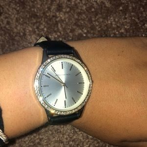 3 for $25 Black Leather AéRopostale gold watch!!!!